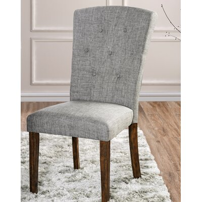 Villanueva Transitional Upholstered Dining Chair Upholstery Color: Gray