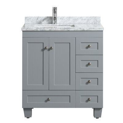 Kyndra Transitional 31 Single Bathroom Vanity Set Base Finish: Gray