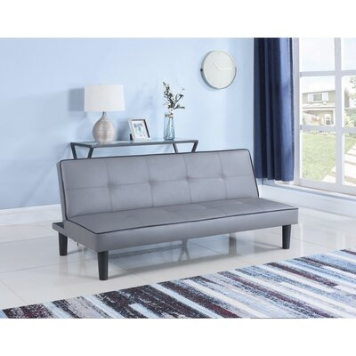 Monitor Convertible Sofa Size: 29.5 H x 32 W x 66.75D, Upholstery: Gray