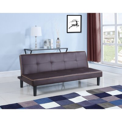 Monitor Convertible Sofa Size: 29.5 H x 32 W x 66.75D, Upholstery: Brown