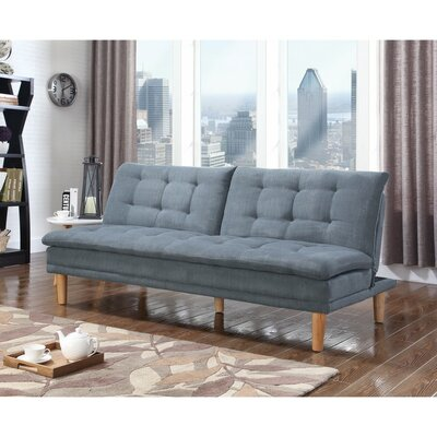 Dubreuil Tufted Modern Convertible Sofa Upholstery: Gray