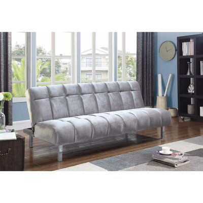Groetzner Convertible Sofa Size: 16.25 H x 41.75 W x 73 D, Upholstery: Silver