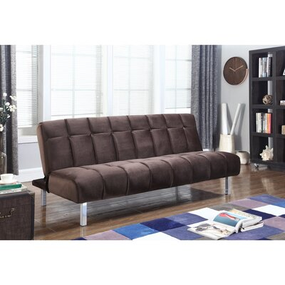Groetzner Convertible Sofa Size: 33 H x 37.5 W x 73 D, Upholstery: Chocolate Brown