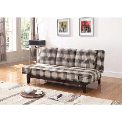 Vantassel Mid Century Plaid Convertible Sofa