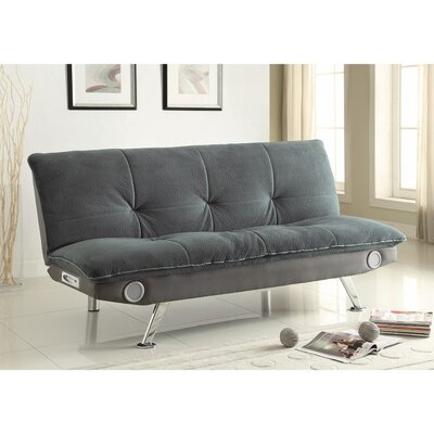 Valerius Convertible Sofa Size: 35.5 H x 33.5 W x 73 D, Upholstery: Gray