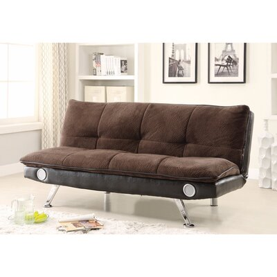 Valerius Convertible Sofa Size: 35.5 H x 33.5 W x 73 D, Upholstery: Brown