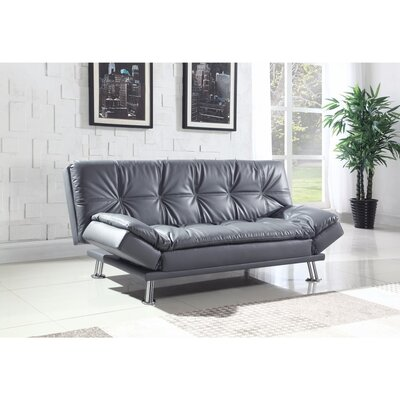 Valerius Convertible Sofa Size: 17.5 H x 73 W x 46 D, Upholstery: Gray