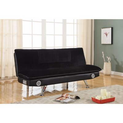 Valerius Convertible Sofa Size: 19 H x 43 W x 73 D, Upholstery: Black