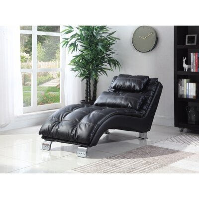 Lui Chaise Lounge Upholstery: Black