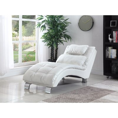 Lui Chaise Lounge Upholstery: White