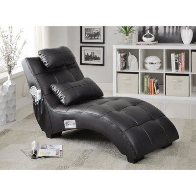 Gorgeous Leather Chaise Lounge