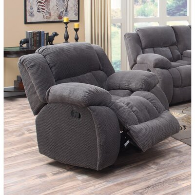 Gulam Cozy and Warm Manual Glider Recliner Upholstery: Gray