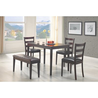 Horrell 5 Piece Dining Set with Bench