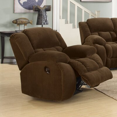 Gulam Cozy and Warm Manual Glider Recliner Upholstery: Brown