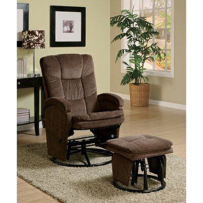Tanis Extra Relaxing Manual Swivel Recliner with Ottoman