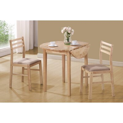 Karns Sophisticated Wooden 3 Piece Extendable Breakfast Nook Dining Set