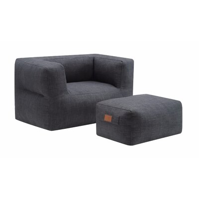 Munjeti Trimmed Barrel Chair and Ottoman