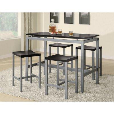 Burwinkel Metal 4 Piece Counter Height Dining Set