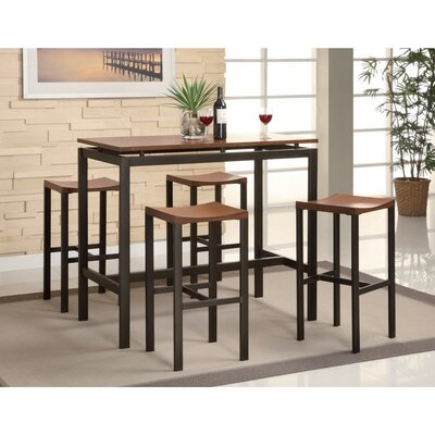 ODonnelly Metal 5 Piece Counter Height Dining Set