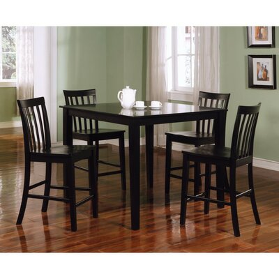 Keller Wooden 5 Piece Counter Height Dining Set