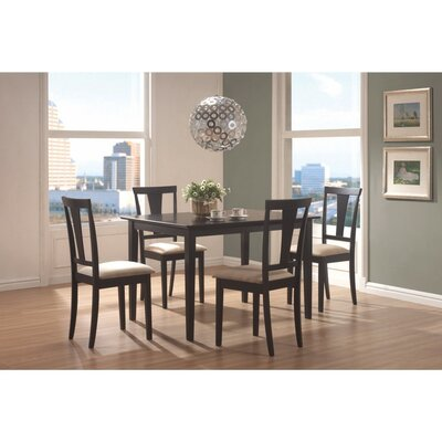 Jeon Wooden 5 Piece Dining Set