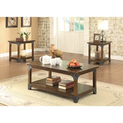 Mccrady Amazingly Craftsman Designed 3 Piece Coffee Table Set
