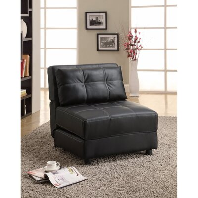 Voorhies Armless Swivel Convertible Chair