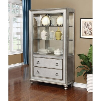 Leighty Metal Curio Cabinet