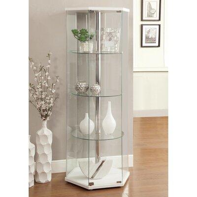 Rafkind Hexagonal Shaped Glass Curio Cabinet