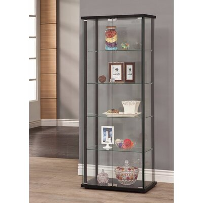 Holifield 5 Shelf Glass Curio Cabinet
