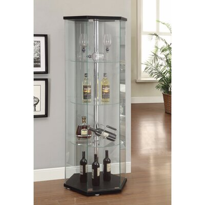 Horrocks Hexagon Shaped Glass Curio Cabinet
