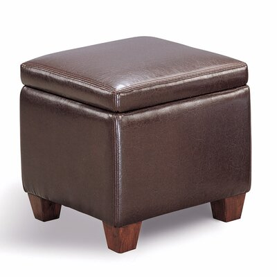 Isakson Leather Storage Ottoman Upholstery: Dark Brown