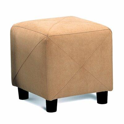 Aswathanarayanan Cube Ottoman Upholstery: Taupe