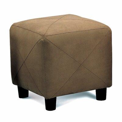 Aswathanarayanan Cube Ottoman Upholstery: Mocha