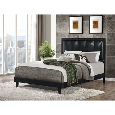 Pirrone Relaxing Leather Queen Upholstered Platform Bed