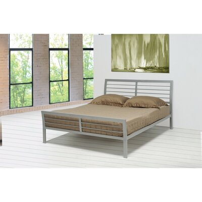Chayne Transitional Style Metal Queen Platform Bed