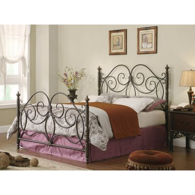 Cilley Fine-Looking Metal Queen Platform Bed with Scroll Details