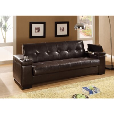 Komarek Faux Leather Convertible Sofa