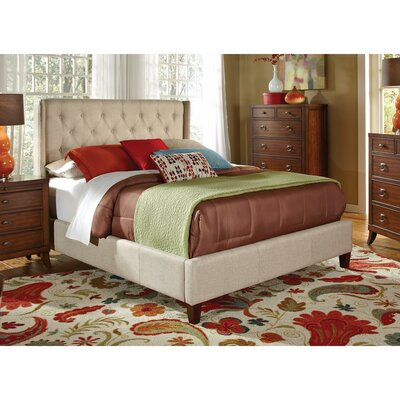 Saur Queen Upholstered Platform Bed with Button Tufting