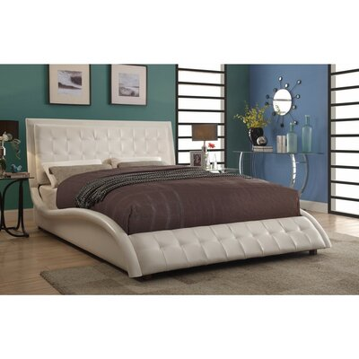Crosbie Contemporary Styled Soothing Queen Upholstered Sleigh Bed
