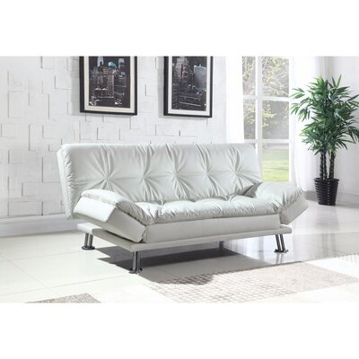 Valerius Convertible Sofa Size: 17.5 H x 73 W x 46 D, Upholstery: White