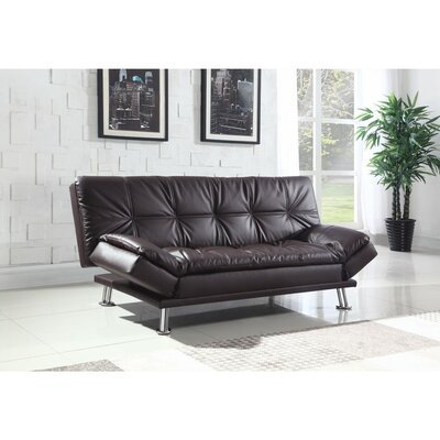 Valerius Convertible Sofa Size: 33.5 H x 73 W x 37 D, Upholstery: Brown