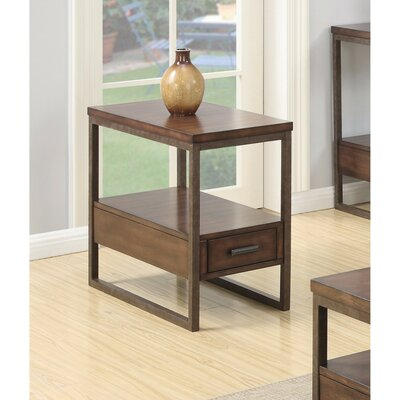 Pecor Elegant Wooden End Table