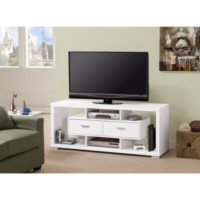 Polster Glamorous Modern Style 59 TV Stand Color: White