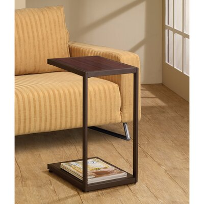 Decarlo Rectangular Wooden Snack End Table