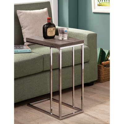 Decesare Rectangular Wooden Snack End Table