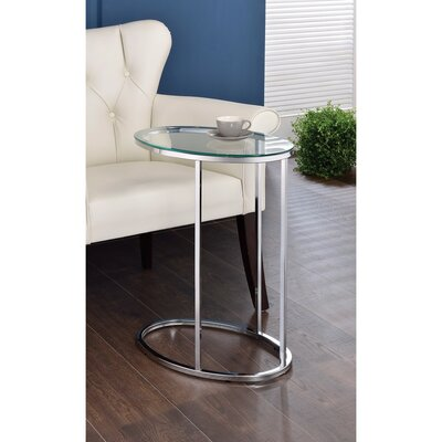 Cavedon Oval Shaped Metal Snack End Table
