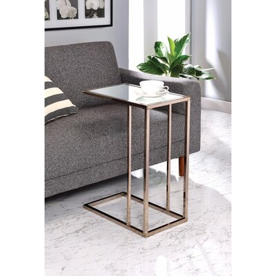 Ingrassia Clear Glass Top Snack End Table