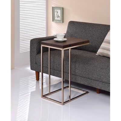 Darley Brown Wooden Top Snack End Table