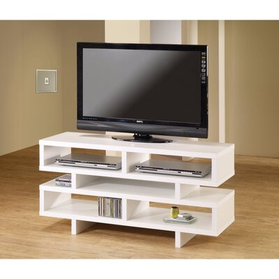 Caslin Contemporary 47 TV Stand Color: White